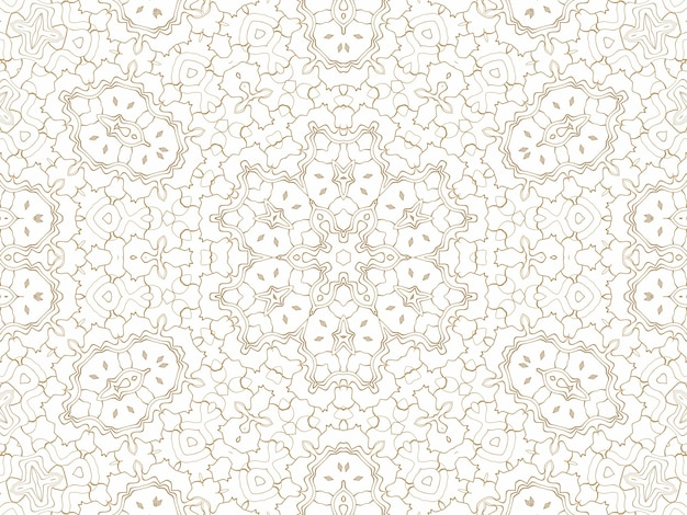 Golden geometric abstract background on white. pattern for decoration and design, symmetrical pattern of gold color