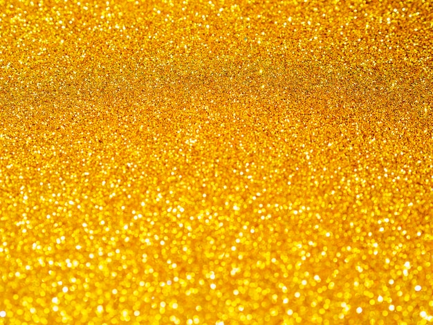 Golden glitter close-up background