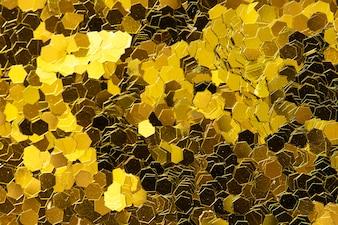Golden glitter textured background abstract
