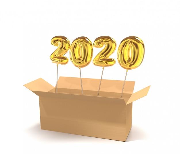 Номера golden globes 2020 в картонной коробке