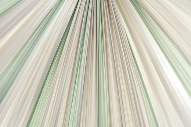 Golden, green and white wavy fabric texture - background