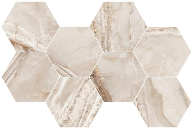 Golden hexagon marble texture