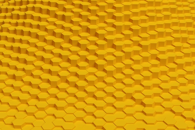 황금 육각형 추상적 인 배경입니다. 기하학적 패턴.