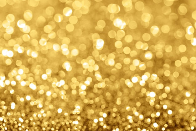 Golden holiday background bokeh