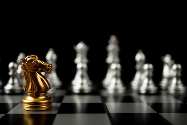 Golden horse chess pieces