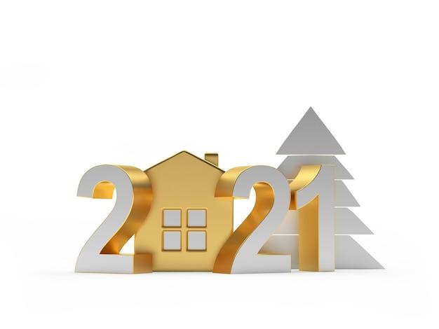 Значок золотой дом и рождественская елка