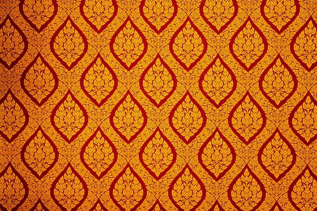 Golden lai thai floral seamless pattern