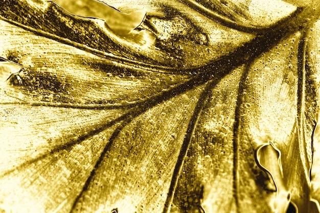 Golden leaf background