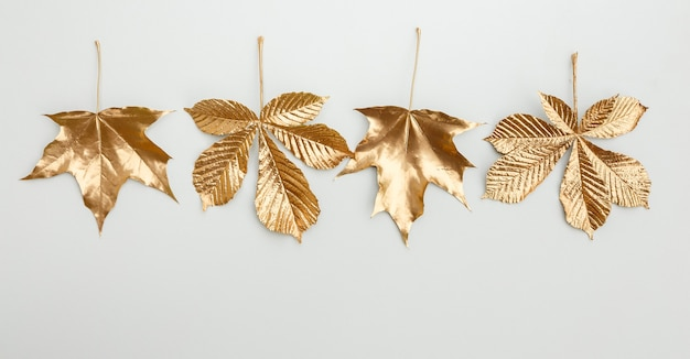 Элементы дизайна золотой лист