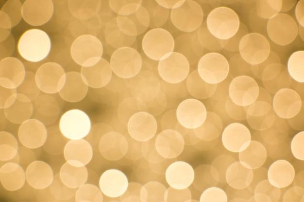 Golden light bokeh as background