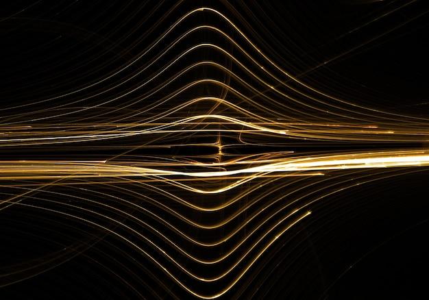 Золотые линии волна абстрактного фона
