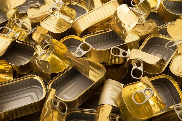 Golden metal food boxes