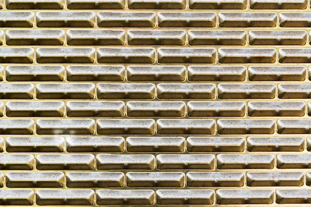 Golden metallic texture outdoors wall