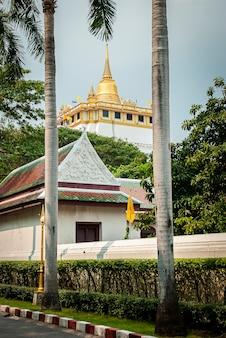 방콕 라차담넌 애비뉴에 있는 황금산과 왓 사켓.