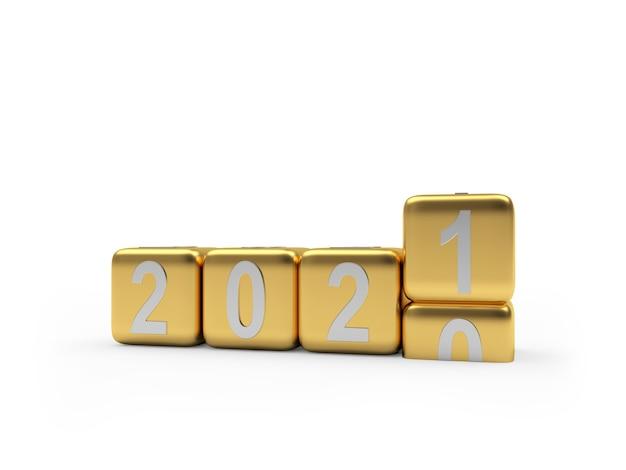 Изменение числа золотого нового года