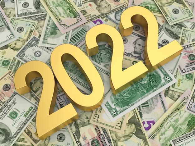 Золотой новогодний номер на кучу долларовых купюр