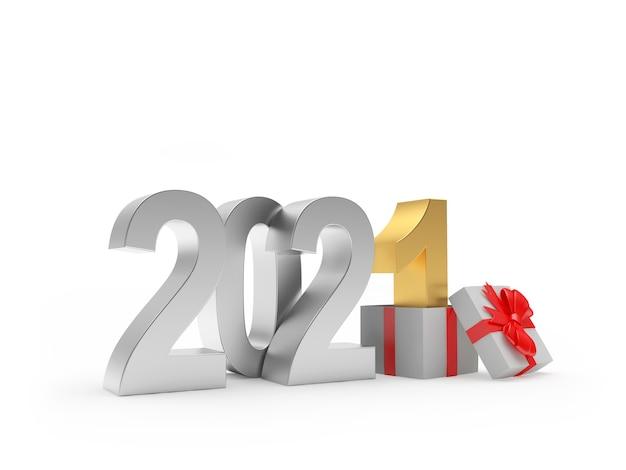 Золотой номер 2021 и номер 1 в подарочной коробке