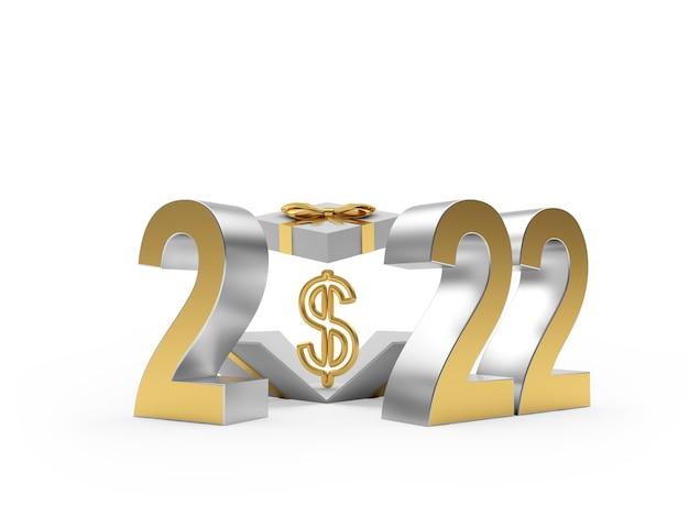 Золотой номер новый и подарочная коробка со знаком доллара