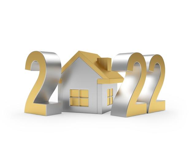 Золотое число нового года с домом
