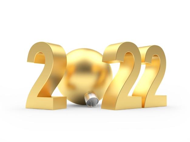 Золотое число нового года с елочным шаром
