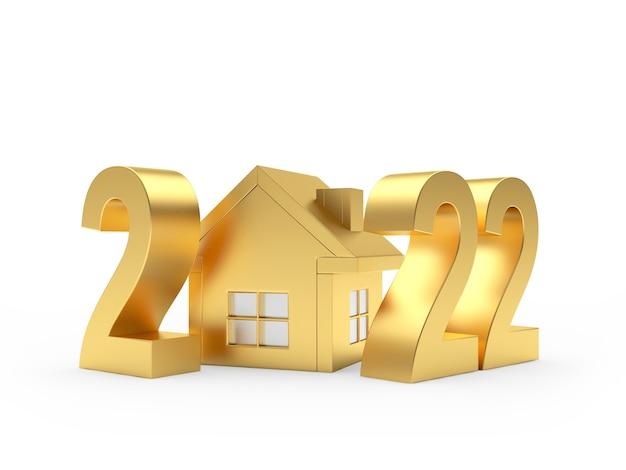 Золотой номер нового года с домиком