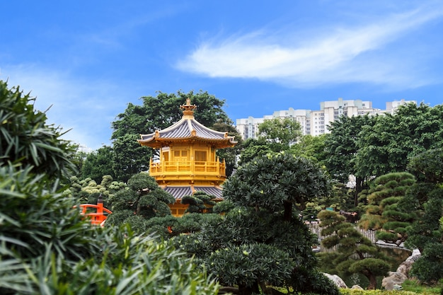 Golden pagoda at nan lian garden