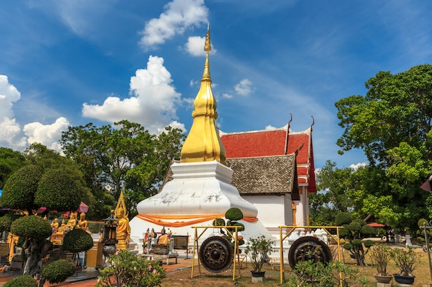 Golden pagoda in phra that kham kaen, khon kaen, thailand