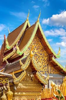태국 치앙마이의 도이수텝 황금탑 왓 프라탓