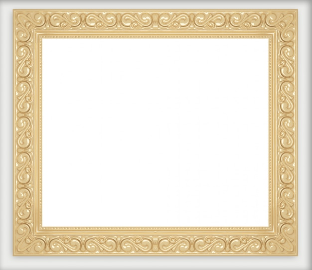 Golden picture frames collection