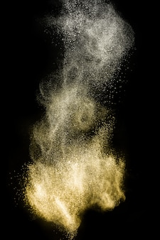 Golden powder splash for makeup artist