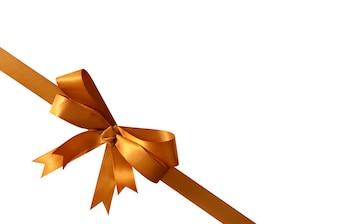 Golden ribbon for gift