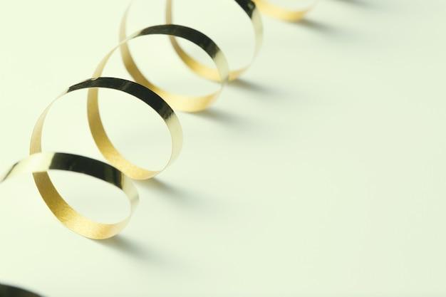 Golden ribbon, retro background