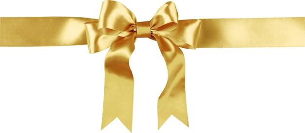 弓に包まれた金色のリボン