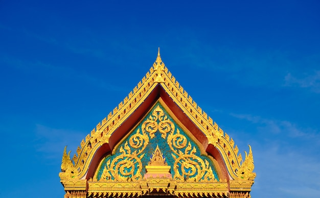 Golden roof of buddhist temple