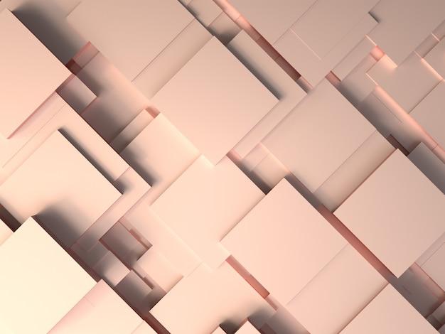 ゴールデンローズラグジュアリー抽象的な背景3d