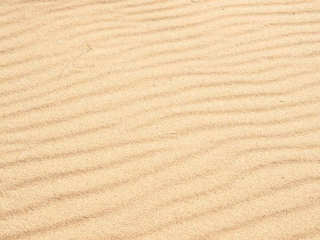 黄金の砂の波のテクスチャ砂浜の背景。上面図
