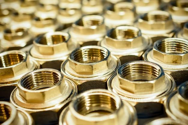 Golden sanitary adapter fittings