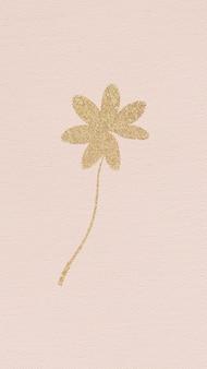 ピンクの金色のきらめく葉