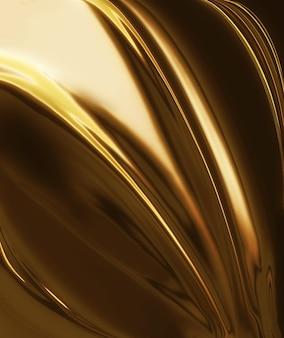 滑らかなラインと黄金のシルクエレガントな抽象的な背景