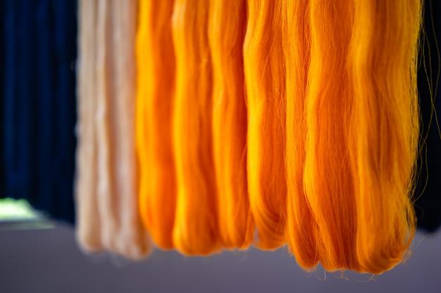 Golden silk fiber