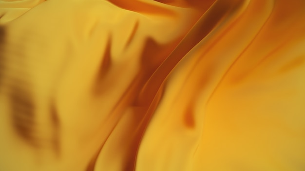 Golden silk wave fabric surface. abstract soft background.