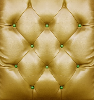 Golden sofa pattern surface for background