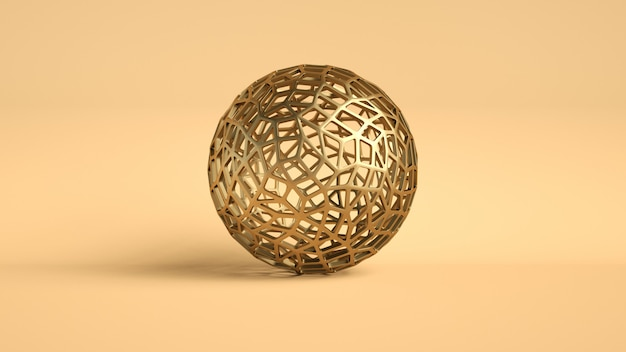 Golden sphere abstract luxury
