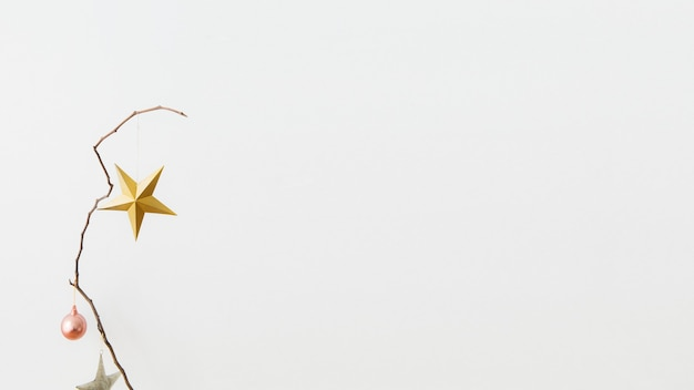 Golden star on a white background
