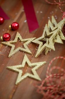 Golden stars for christmas