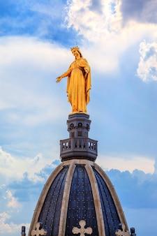 Golden statue of virgin mary, lyon
