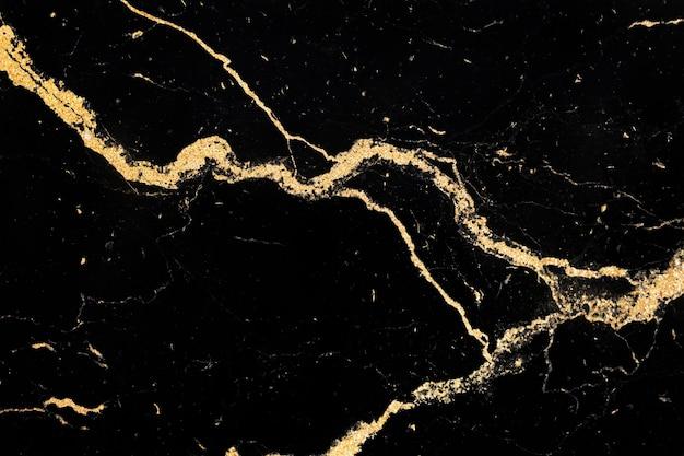 Golden streaks on a marble texture
