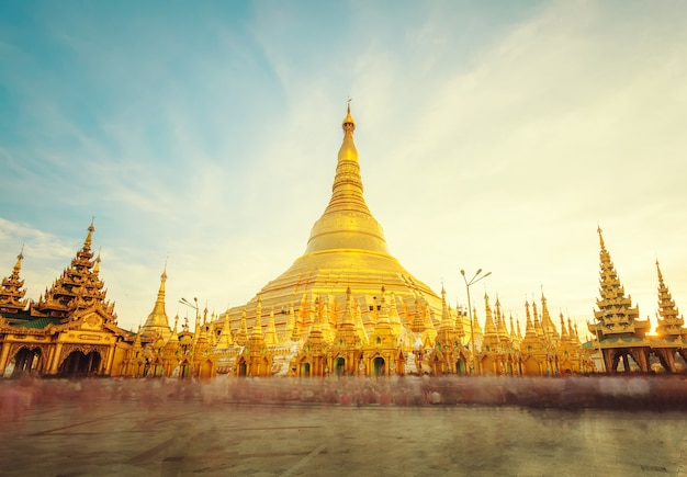 The golden stupa of the shwedagon pagoda yangon (rangoon)
