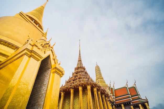 Golden stupa of temple of the emerald buddha