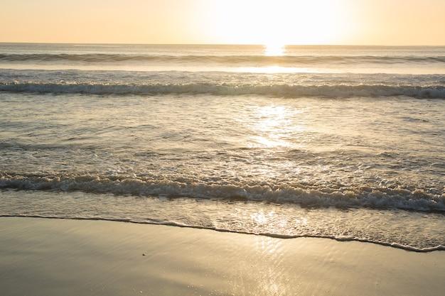 Золотой закат на берегу моря
